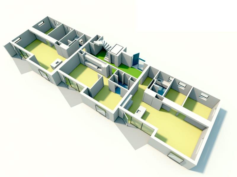 Skitse på etagebyggeri i Rønne